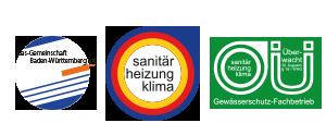 SHK Sanitär Heizung Klima - Fachbetrieb Innungsmitglied - Gasgemeinschaft Stuttgart - Zertifizierter Fachbetrieb -Gewässerschutz Fachbetrieb